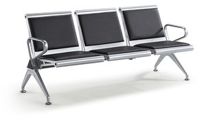 S6013P 3 Seater Bench(Black)